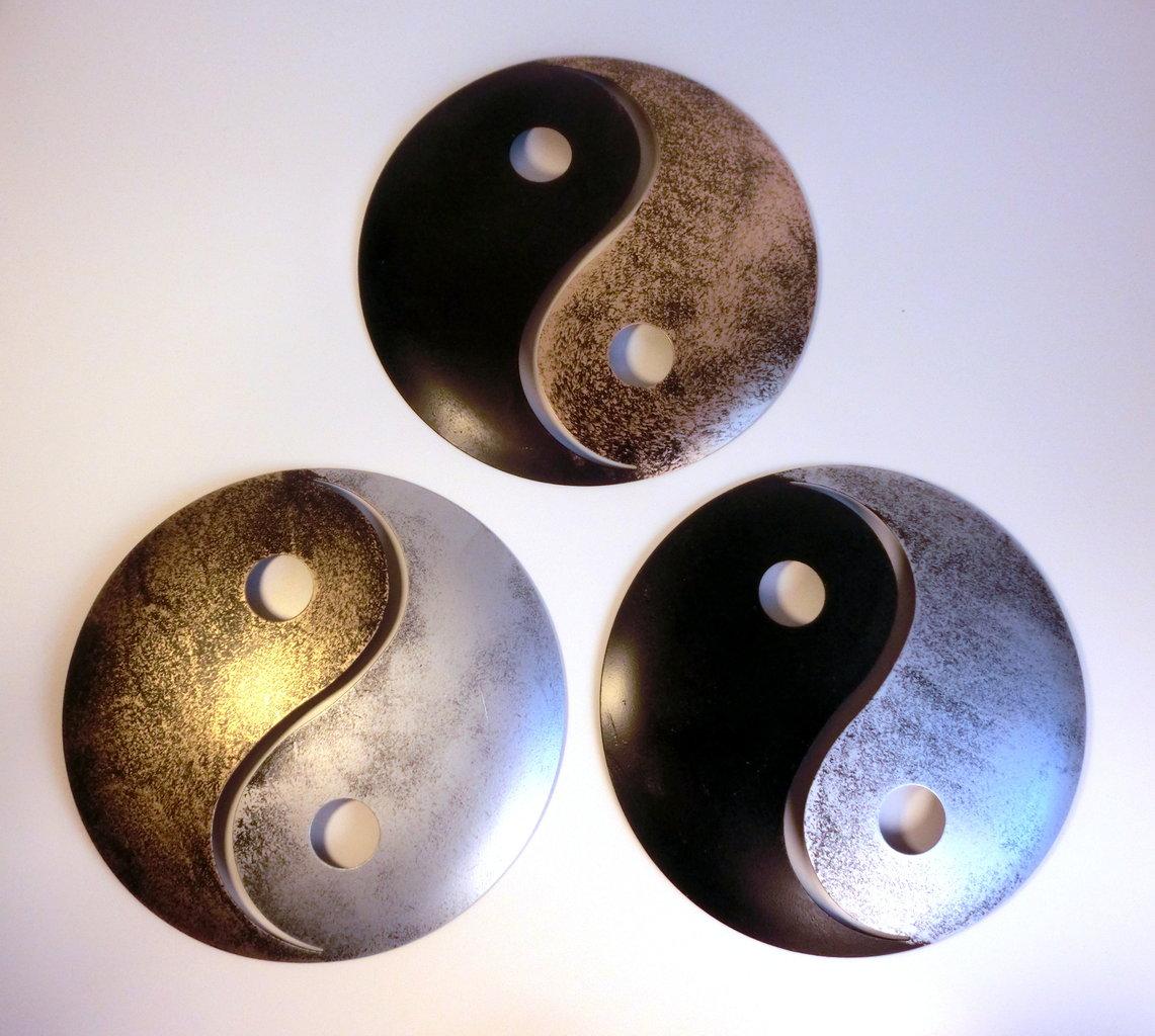 atelier akara wanddekoration yin und yang gold metall. Black Bedroom Furniture Sets. Home Design Ideas